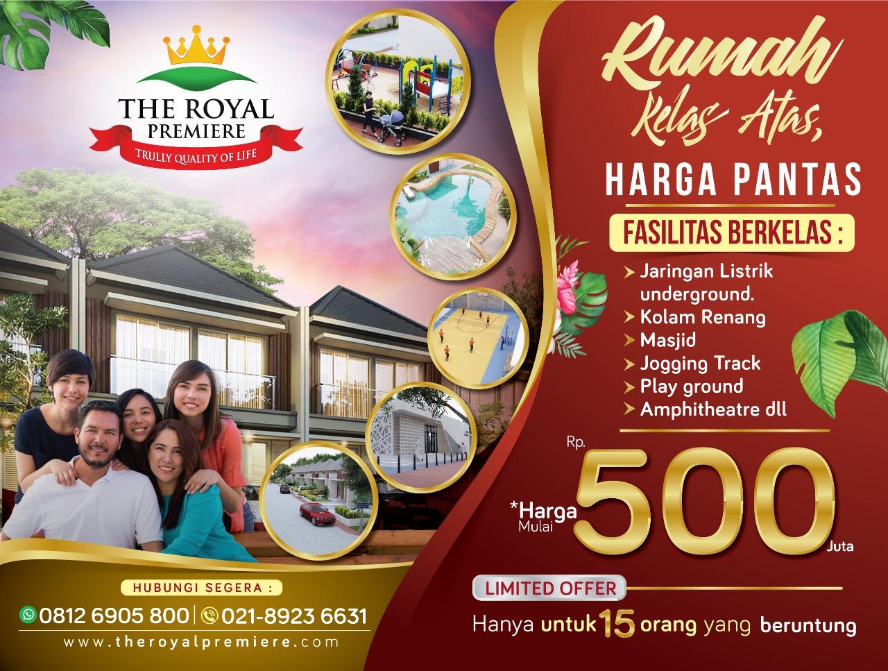 banner terbaru perumahan the royal premiere bekasi